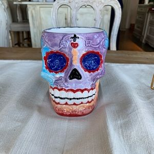 Handmade Day of the Dead Skull Coffee Cup